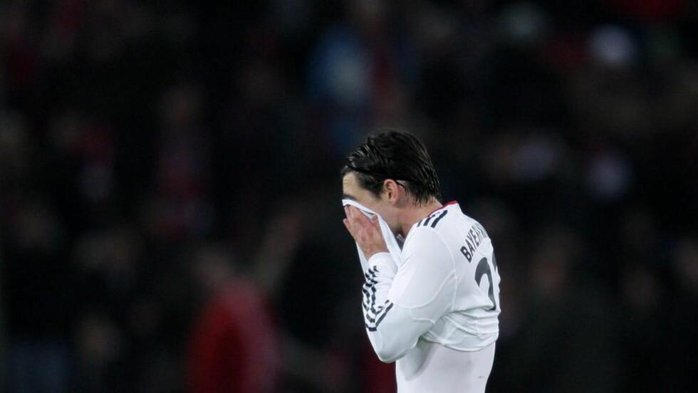 ROTET BORT LEDELSEN: Bayern München kunne overtatt 2.-plassen i tysk Bundesliga lørdag, men laget ga fra seg en 2-0-ledelse og tapte 2-3 for Köln. Foto: Scanpix