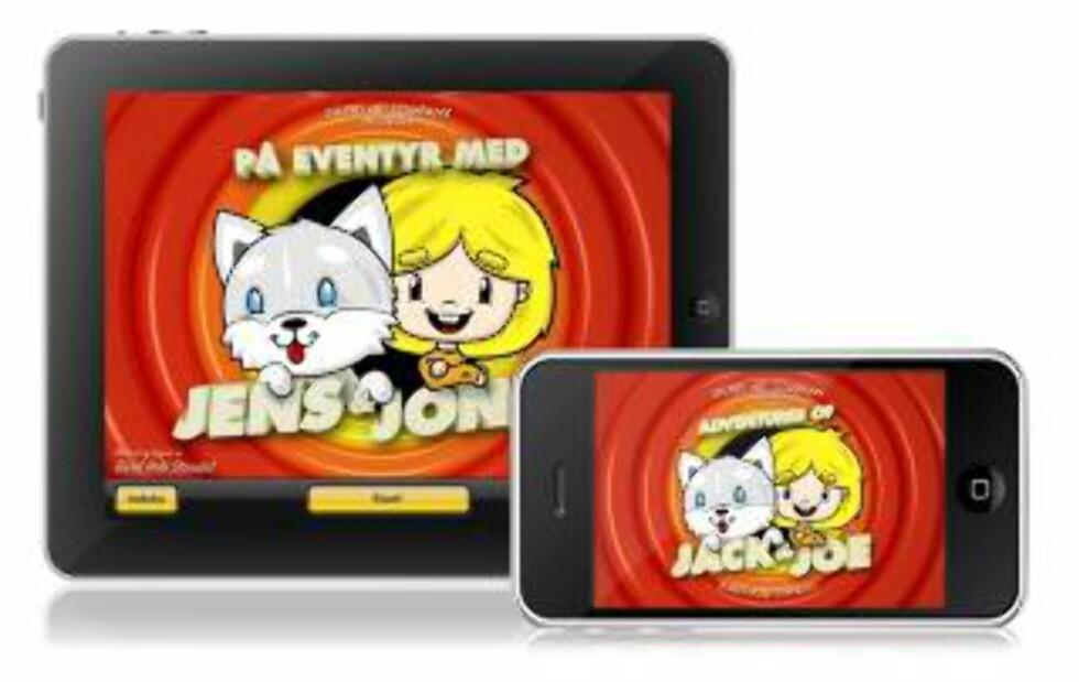 BESTSELGER: «Jens og Jonas» er utviklet og utgitt av to norske brødre, uavhengig av forlag. Bokappen ble raskt en bestselger i Appstore.