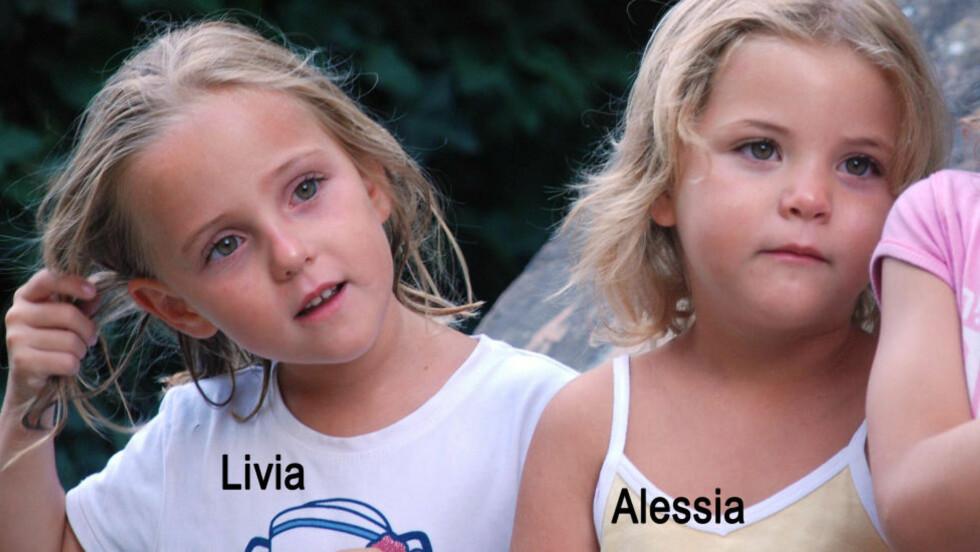 ETTERLYST:  Tvillingene Livia og Alessia er etterlyst av Interpool etter å ha blitt bortført av faren fra hjemmbyen i Sveits. Foto: AFP PHOTO/POLICE CANTONALE VAUDOISE/SCANPIX