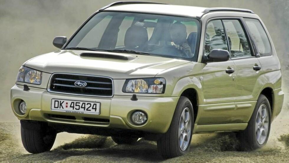 GODT KJØP: Subaru Forester fra 2002-2007 er en mer kompakt og lettkjørt bil med SUV-egenskaper. FOTO Terje Bjørnsen