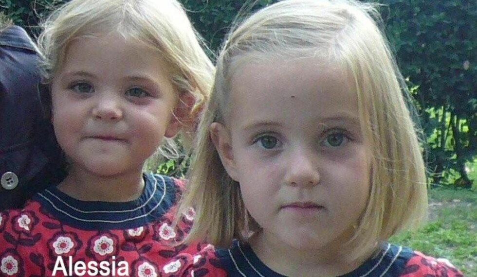 SAVNET:  De seks år gamle tvillingene Alessia og Livia er savnet etter at de ble borført fra hjembyen i Sveits av faren. Foto:  REUTERS/Police Cantonale Vaudoise/