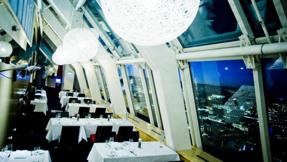 Oslo for dine føtter: Det er mye bra med Restaurant 34, men verken maten eller  servicen står helt i stil med utsikten. Foto: Thomas Rasmus Skaug  / Dagbladet