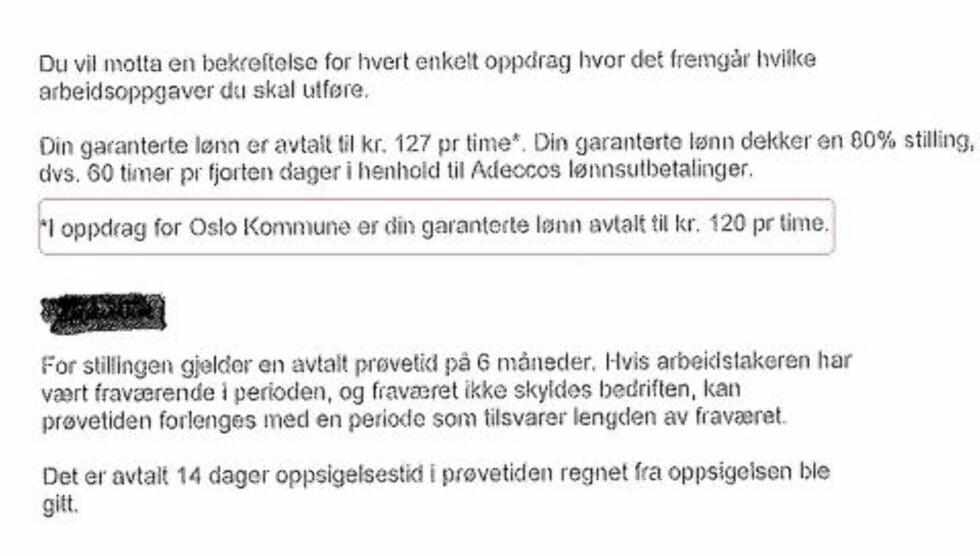 SKRIVEFEIL: Dette er fjerde gangen Dagbladet avdekker at Adecco betaler de ansatte mindre enn tariff. Første gang skyldte de på en «skrivefeil».