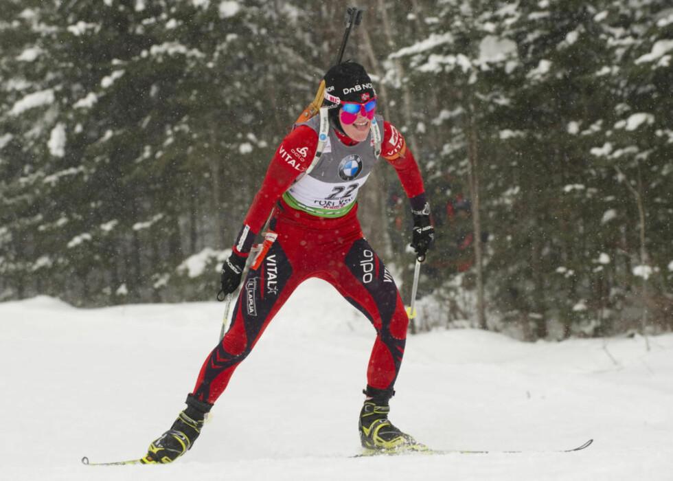 NY FJERDEPLASS: Tora Berger gikk inn til en ny fjerdeplass i Fort Kent på dagens jaktstarten.Foto: SCANPIX/AFP PHOTO/DON EMMERT