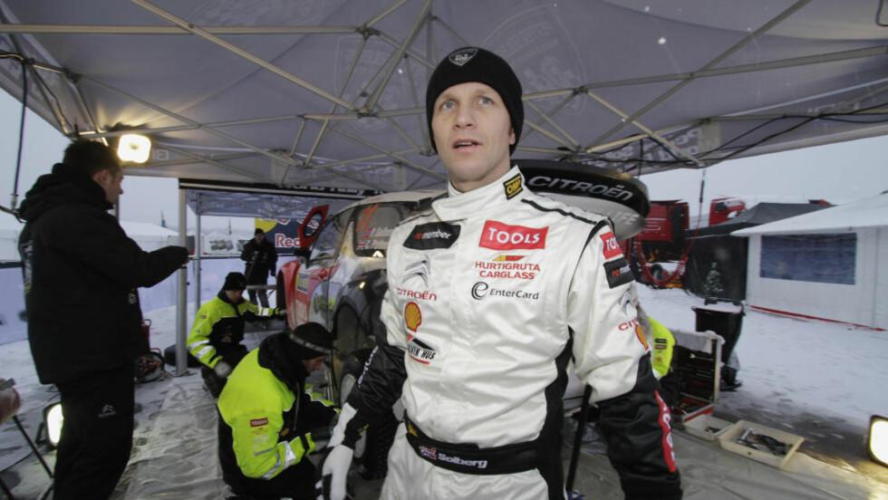 GIKK LITT FOR FORT: Petter Solberg ble stoppet av politiet i fartskontroll utenfor konkurransen i Sverige. Foto: Micke Fransson / SCANPIX