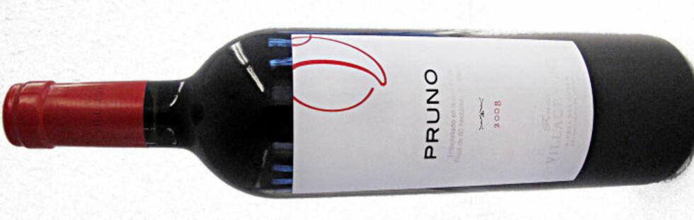 GODT KJØP: Finca Villacreces Pruno 2008 fra Ribera del Duero, blant testens aller beste kjøp.