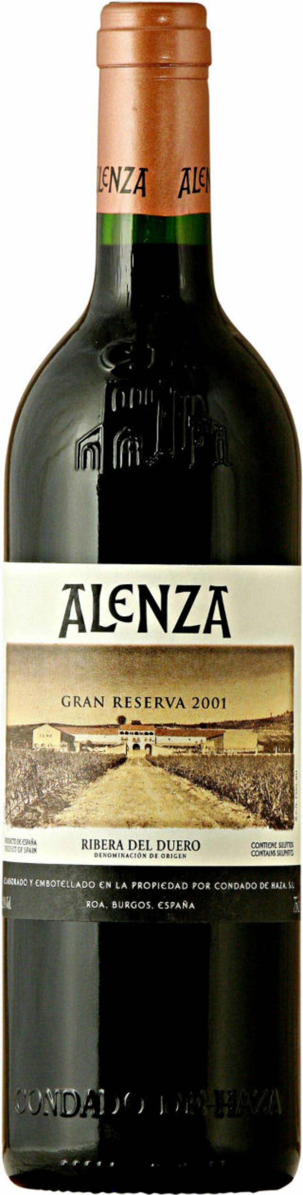 TOPPKLASSE: Alenza Gran Reserva 2001 har fått navnet sitt fra fornavnene til produsentekteparet: Alejandro og Esperanza Fernandez.