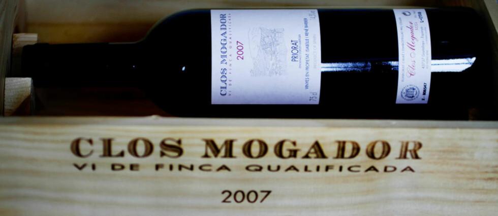 FREMRAGENDE: Clos Mogador Priorat 2007 fra Catalonia er en fantastisk vin, og antakelig billigst på det norske Vinmonopolet.  Foto: OLE C.H. THOMASSEN