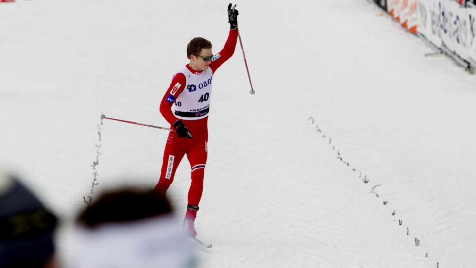 TRIVES I KOLLEN: Petter Eliassen gikk inn til sin beste internasjonale plassering i karrieren da han ble nummer ti på femmila i Holmenkollen i fjor.Foto: Kyrre Lien/Scanpix