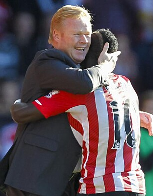 SUKSESS: Koeman og Mane da de begge var i Southampton. Foto: FourFourTwo/Haymarket