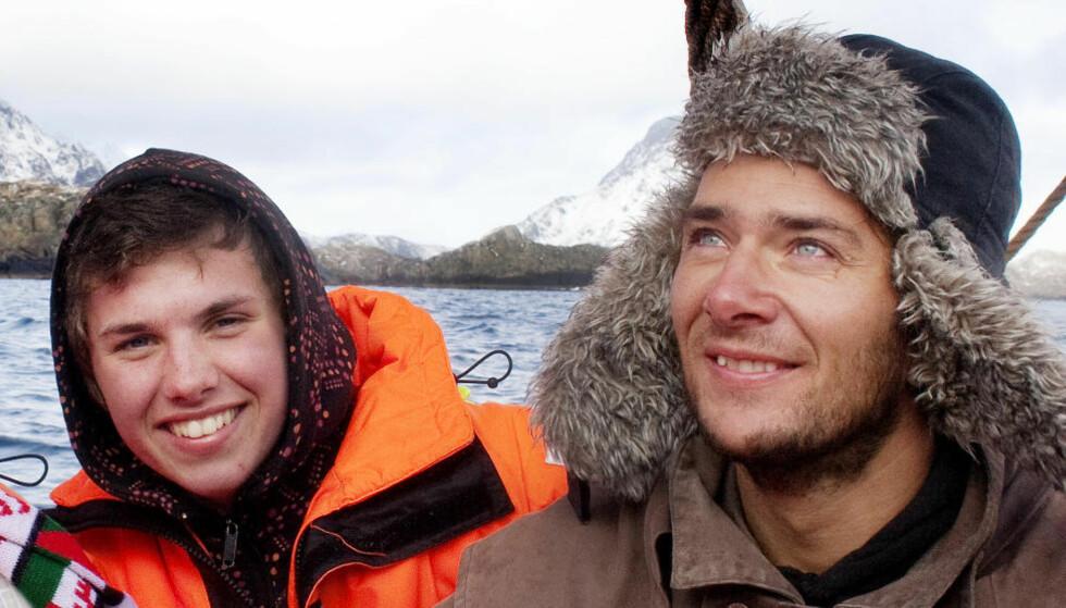 GA LYD FRA SEG:  Jarle Andøy og Samuel Massie (t.h.) er på vei fra Sydpolen og visste ikke at mannskapet på Berserk hadde sendt ut nødsignal. I natt meldte de fra til sine nærmeste at alt sto bra til.   Foto: Agnete Brun / Dagbladet