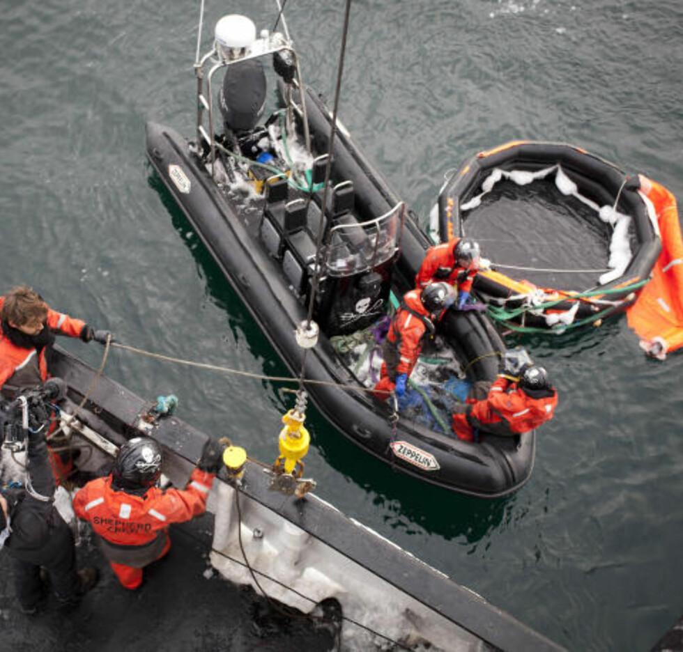 DREV 70 KILOMETER: Livbåten ble funnet rundt 70 kilometer nord for stedet de nødsignalet fra Berserk ble sendt ut.
