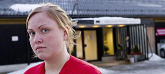 Hjelpepleier Johanna (23) bor på pasientrom