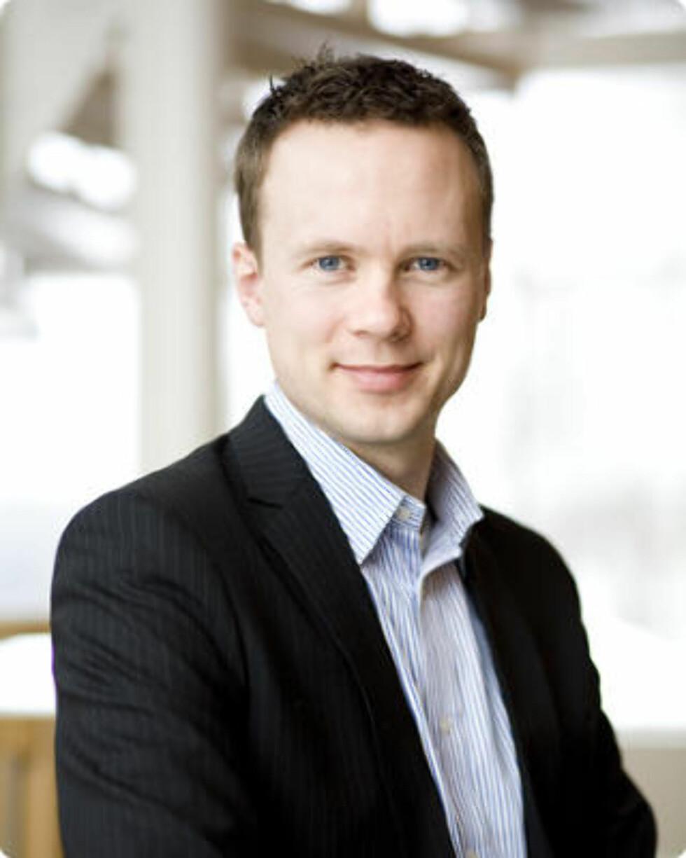 STYRER BUTIKKEN: Konsernsjef  Anders Øwre-Johnsen (37) i Adecco Norge styrer landets største bemanningsbyrå. Foto: Adecco