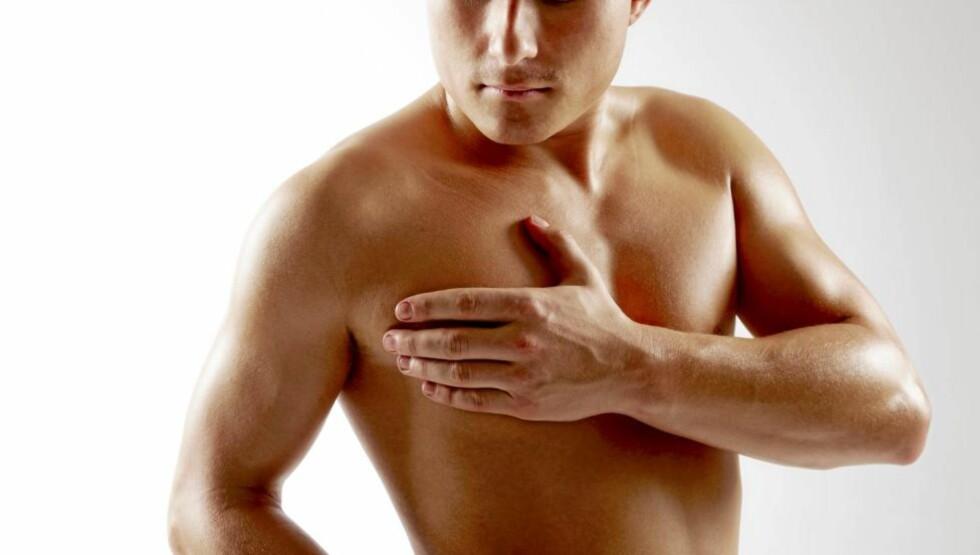 SMERTER: Hjerteinfarkt gir brystsmerter for de aller fleste. Illustrasjonsfoto: www.colourbox.com