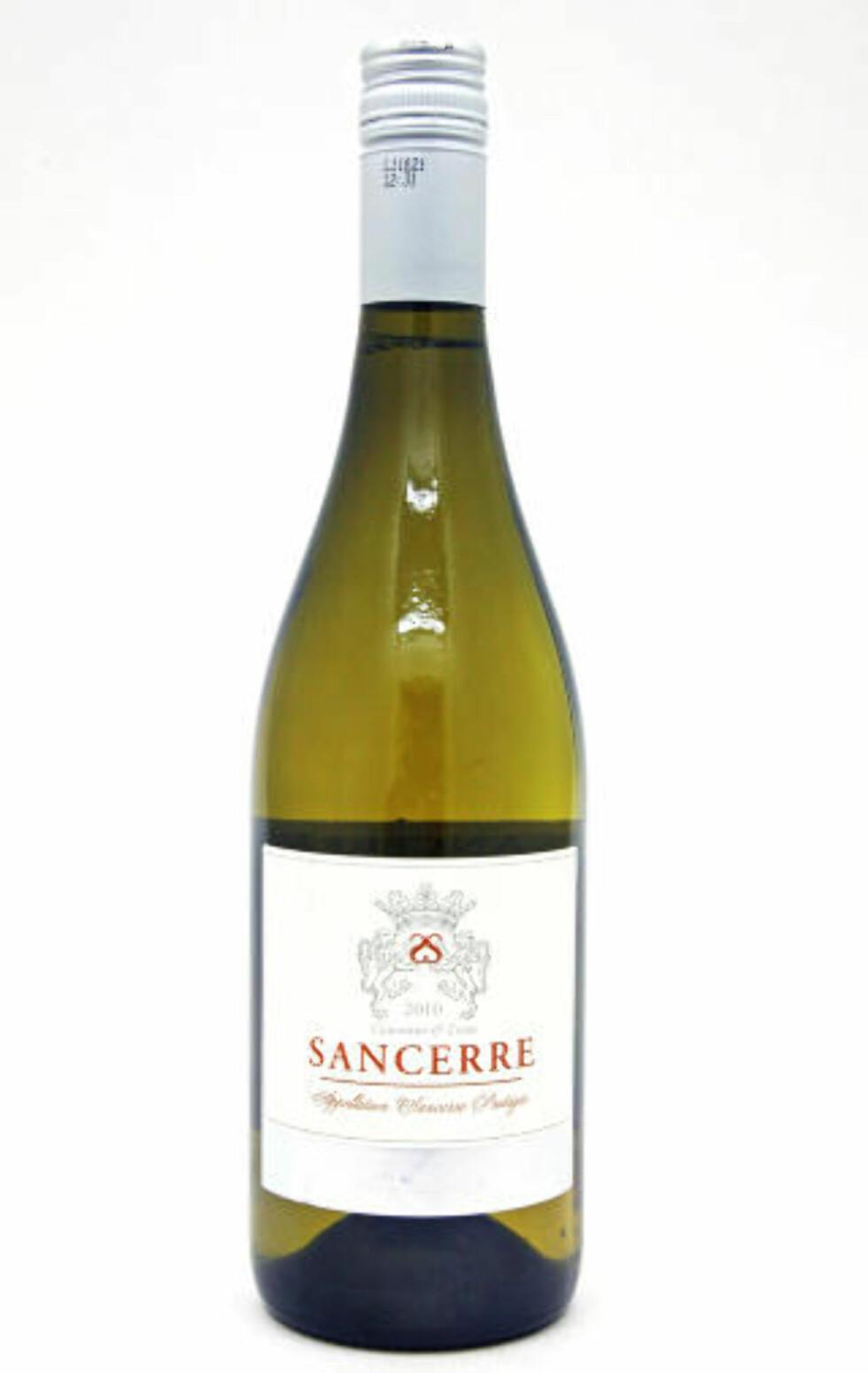 KLASSISK FRUKTIG SANCERRE: Paul Buisse Sancerre 2010 får en sekser av vineksperten.