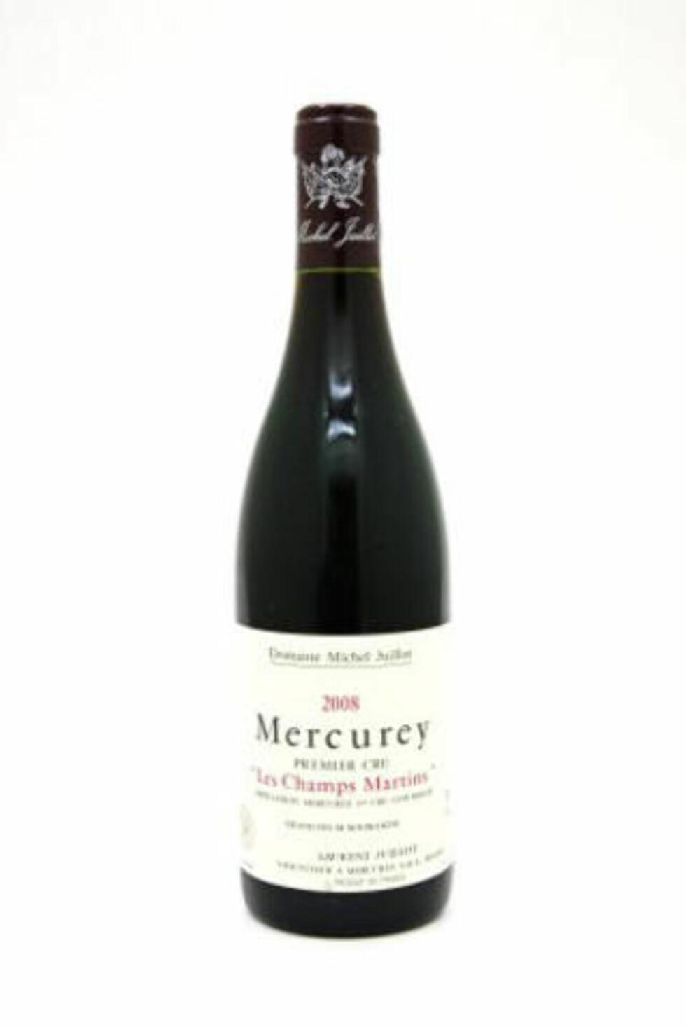 BRA PRIS: Juillot Mercurey 1er Cru Les Champs Martins 2008, akseptabel burgunder til bra pris.