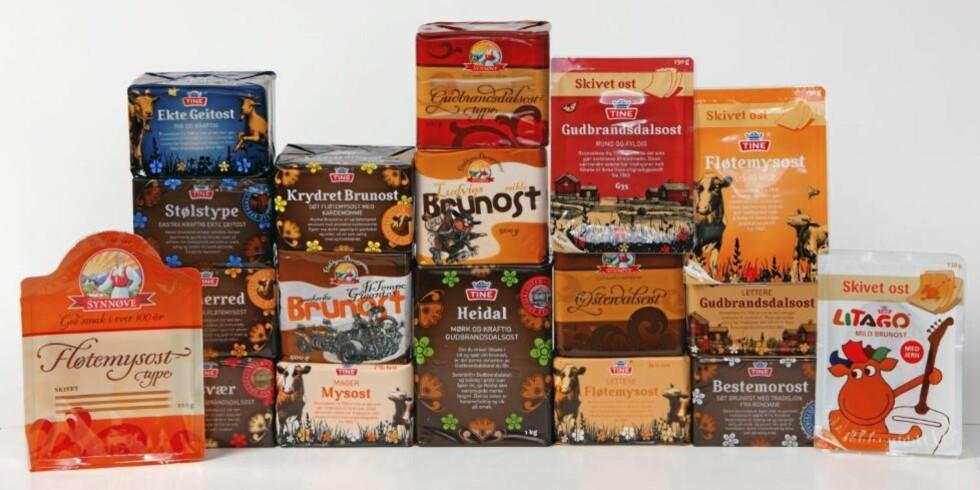TEST: DinKost.no har sjekket næringsinnholdet i 18 typer brunost. Foto: Bjørn Inge Karlsen, HM Foto