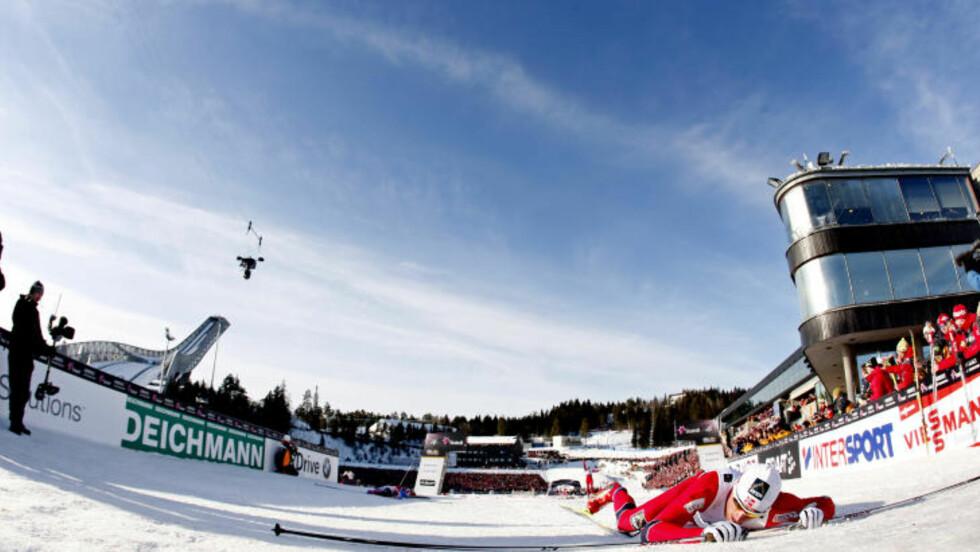 HELT TOM: Petter Northug gikk ned i kjelleren - og kom opp igjen med gullet. Foto: STIAN LYSBERG SOLUM/SCANPIX