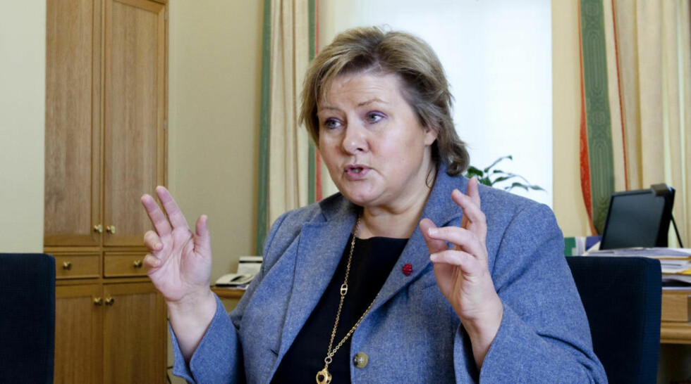 INGEN KOMMENTAR: Erna Solberg bekrefter at hun har fått invitasjon til samarbeid om et DLD-alternativ, men ønsker ikke å kommentere saken. Foto: Torbjørn Berg/Dagbladet