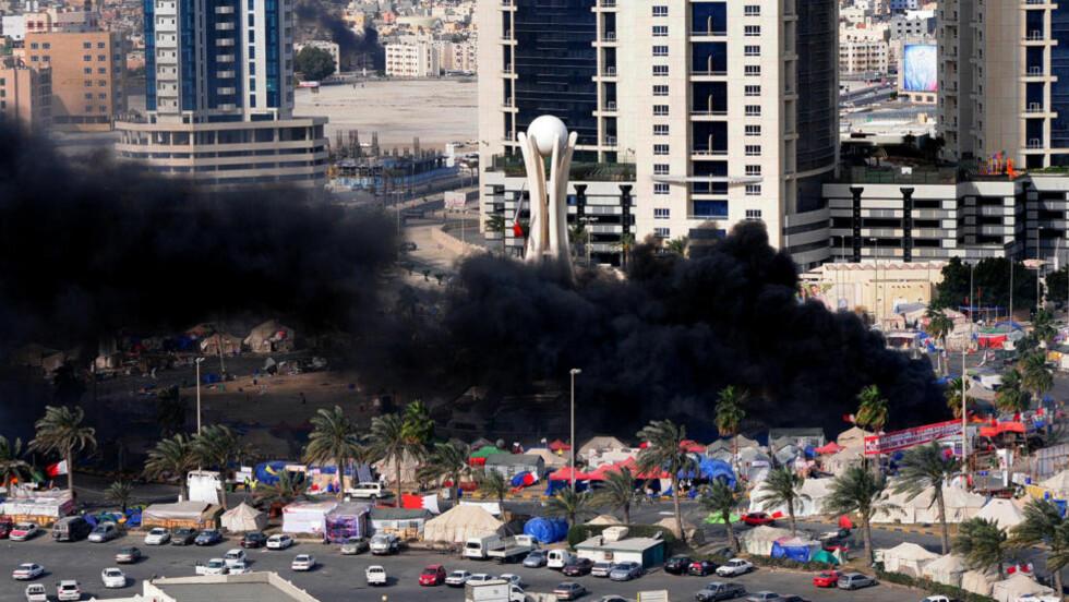 BESKYTTES: Er Bahrains brutale hersker Hamad al-Khalifa og hans regime brakt inn for FNs sikkerhetsråd? Nei, skriver Jan-Erik Smilden. Foto: AFP