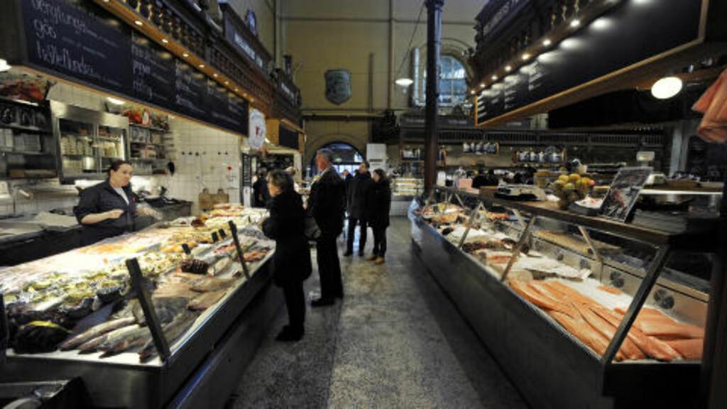 GOURMET:  Her finner kresne kunder det beste utvalget av matvarer i Stockholm. Foto: John Terje Pedersen/Dagbladet