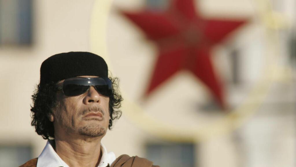 FRYS-AKSJON: Også norske banker deltar nå i jakten på midler som kan knyttes til Kadhafi og Libya. Den 11. mars vedtok Utenriksdepartementet en ny forskrift om sanksjoner mot Libya. (AP Photo/Sergei Grits)