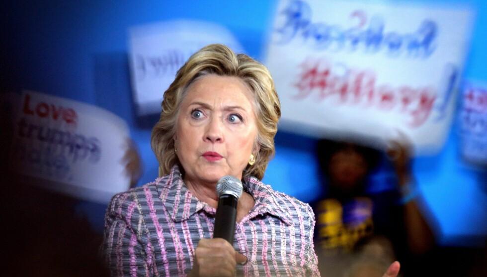 VALGKAMP: Wikileaks varsler at de vil komme med nye avsløringer fra Clinton-leiren. Foto: EPA / NTB Scanpix