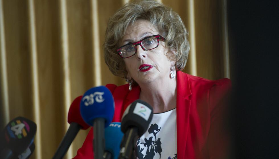 Statsadvokaten utsetter avgjørelsen om en eventuell tiltale mot tidligere ordfører i Bergen, Trude Drevland (H). Bildet er tatt ved en tidligere anledning. Foto: Marit Hommedal / NTB scanpix