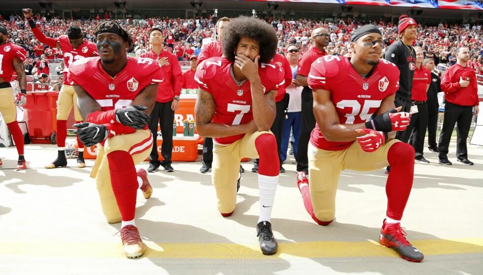 KAN FÅ BØTER: Nå resulterer dette i bøter i NFL. Foto: EPA/JOHN G MABANGLO