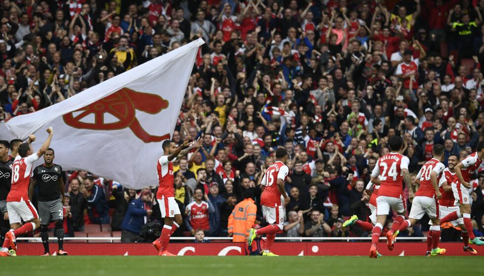 HÅVER INN: Arsenal tjener mest av samtlige lag. Foto: Dylan Martinez / Reuters / NTB Scanpix