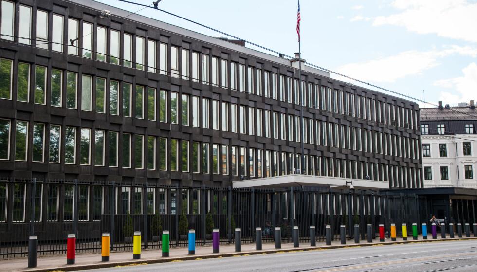 ARKITEKTUR: Den amerikanske ambassade fra 1959 representerer et eksempel på internasjonal arkitektur i Oslo. Foto: Audun Braastad / NTB Scanpix