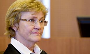 TILFREDS: Aktor Marit Bakkevig mener det er viktig at regjeringsmedlemmer kan gå fritt uten å frykte angrep, og er tilfreds med dommen. Foto: Håkon Mosvold Larsen / NTB Scanpix