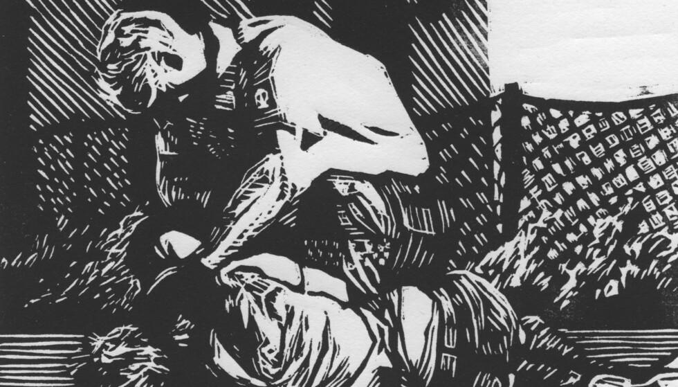 """ALTERNATIV TIL STRAFF: Politiet og politikerne har i flere tiår forsøkt å bli kvitt rus med harde straffer. Det har ikke fungert. Det er på tide med en endring. Illustrasjon: Lars Sandås, fra boka """"Narkoatlas""""."""