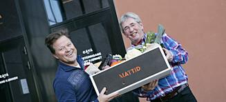 Mattid: Middagskasse fra Arne Brimi og Arne Hjeltnes på døra
