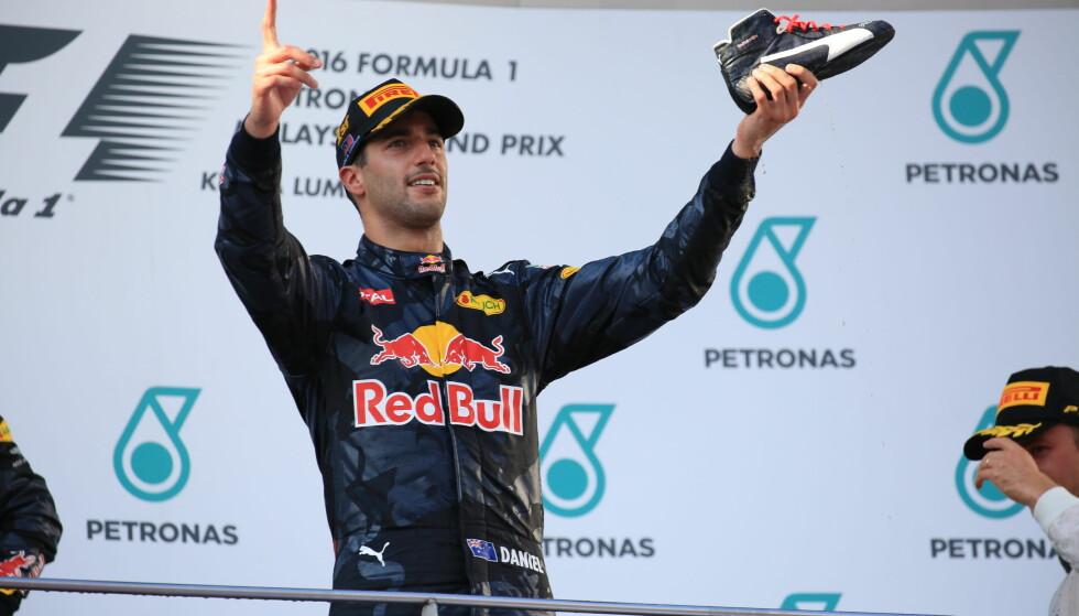 VANT: Daniel Ricciardo. FOTO: NTB Scanpix
