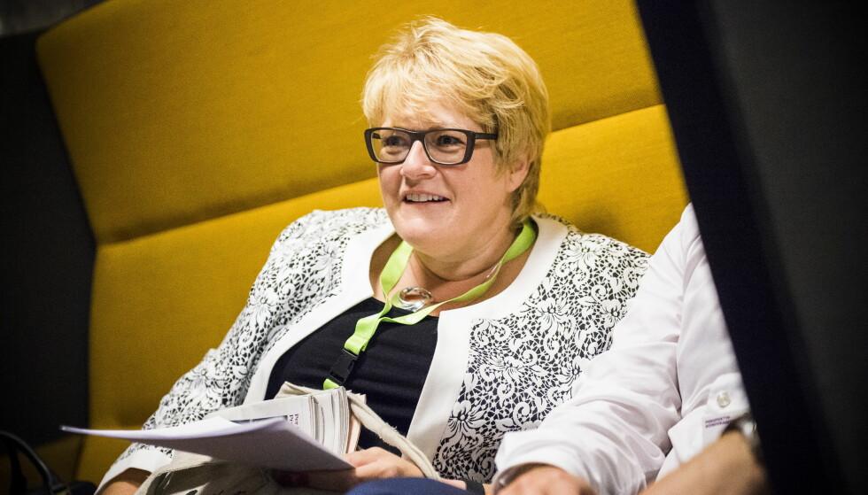 IKKE FORNØYD: Venstre-leder Trine Skei Grande er ikke fornøyd med klimaprofilen på årets statsbudsjett. Foto: Endre Vellene / Dagbladet