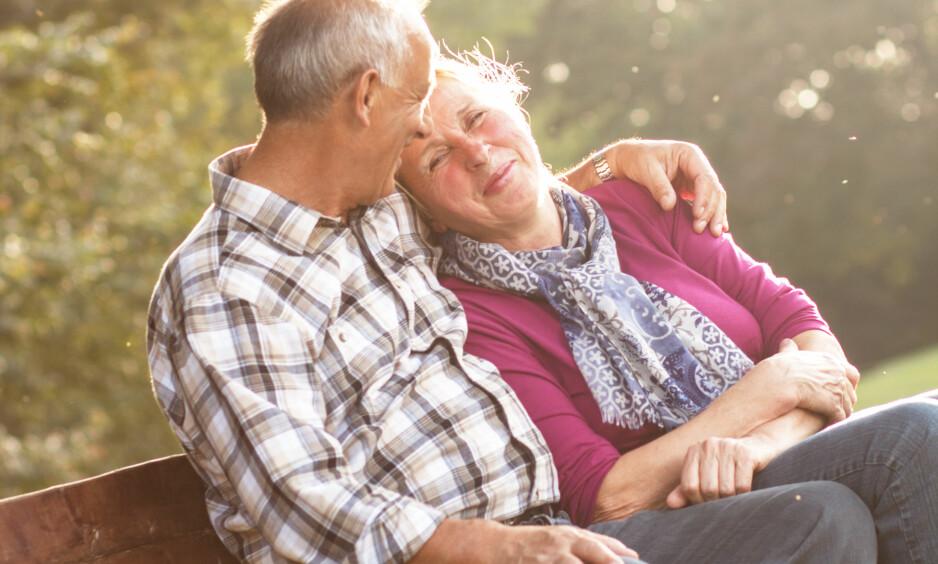Liten slant: Pensjonistpar i 70-åra har litt å smile for, mener Silje Sandmæl i DNB. Illustrasjonsfoto: NTB Scanpix