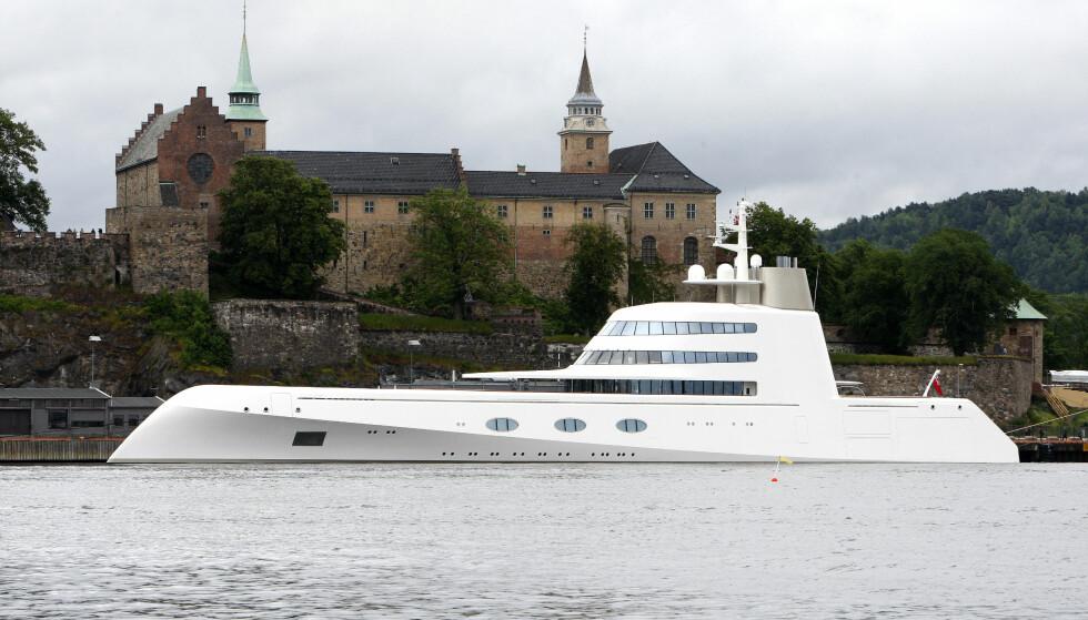 I OSLO: Før han gikk over til seilbåt, brukte Melnichenko denne motor-yachten til snaut to milliarder kroner. Den besøkte blant annet Oslo i 2009. Foto: NTB Scanpix