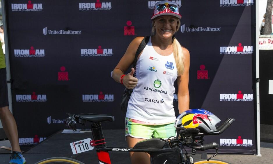 KLAR FOR IRONMAN: Camilla Pedersen har trosset det meste for å stille til start i Ironman-VM på Hawaii.Foto: EPA/Bruce Omori/ NTB Scanpix