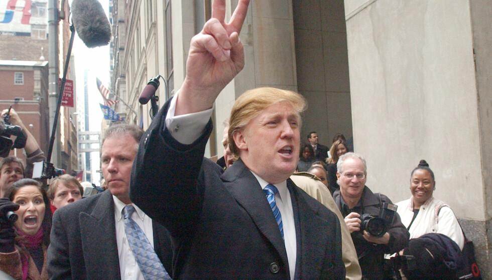 ANDRE SESONG: Her er Donald Trump på vei til castingen av andresesongen av «The Apprentice». Foto: Frank Franklin II / AP / NTB Scanpix