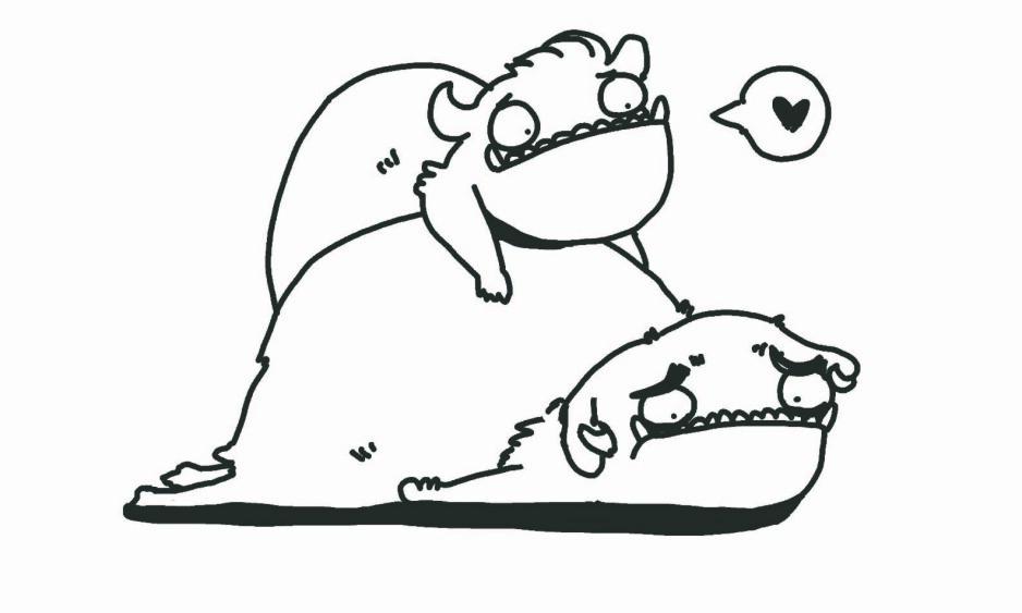 """SE DEG RUNDT: Bare å bli sett og at noen spør hvordan det går hjelper masse, skriver Oda Rygh.Tegning: Tegnehanne, fra boken """"Når livet er kjipt"""""""