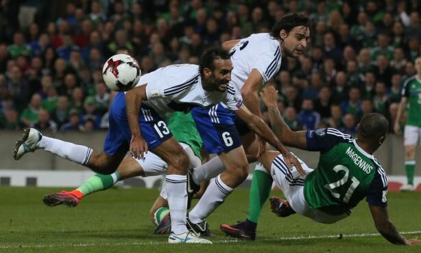 TØFF START: San Marino holdt lenge koken mot Irland, men tapte 4-0. Foto: NTB Scanpix