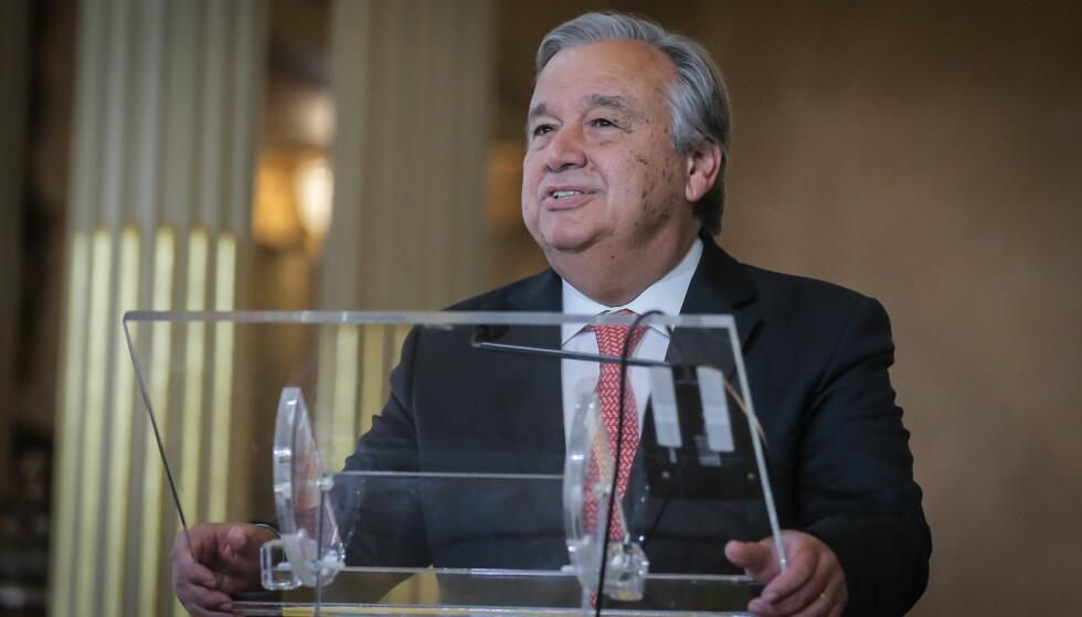 NY GENERALSEKRETÆR I FN: Portugiseren António Guterres, her fra et møte i Lisboa tidligere i oktober, ble torsdag valgt til FNs nye generalsekretær. Foto: Zuma Press/NTB Scanpix.
