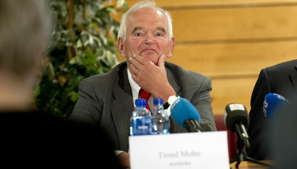<strong>SOPTE INN PENGER:</strong> Trond Mohn (73) er suverent på toppen av inntekts- og skattelista for fjoråret. Foto: Marit Hommedal / NTB Scanpix