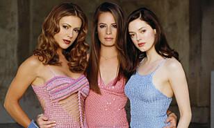 <strong>KJENT ROLLE:</strong> Rose McGowan (t.h) er best kjent for rollen som Paige Matthews i TV-serien «Charmed». Her avbildet med motspillerne Alyssa Milano (t.v) og Holly Marie Combs. Serien ble sendt fra 1998 til 2006.