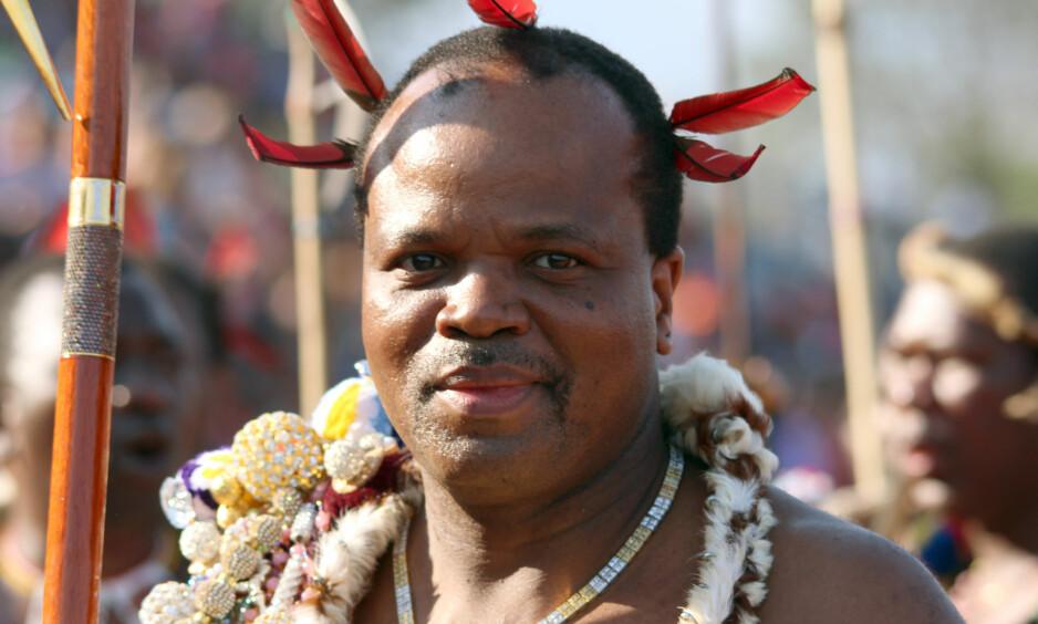 BYTTER NAVN: Det lille afrikanske kongeriket Swaziland bytter navn til eSwatini, opplyser landets konge, Mswati III. Foto: Juergen Baetz/dpa/Scanpix