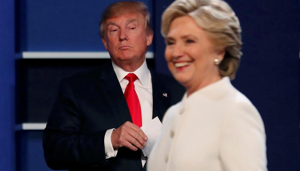 SNART DØDT LØP: Donald Trump har snart utliknet Hillary Clintons forsprang på meningsmålingene. Foto: REUTERS / Mike Blake       / NTB scanpix