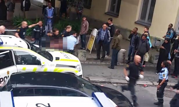 DRAMATISK: 18. september 2015 ble en norsk-somalisk kvinne skutt av politiet, som mente hun oppførte seg truende overfor et lite barn og trodde hun var våpen. Mange muslimer i Oslo ble rasende, og mente kvinnen aldri hadde blitt skutt om hun var hvit. Foto: Privat.