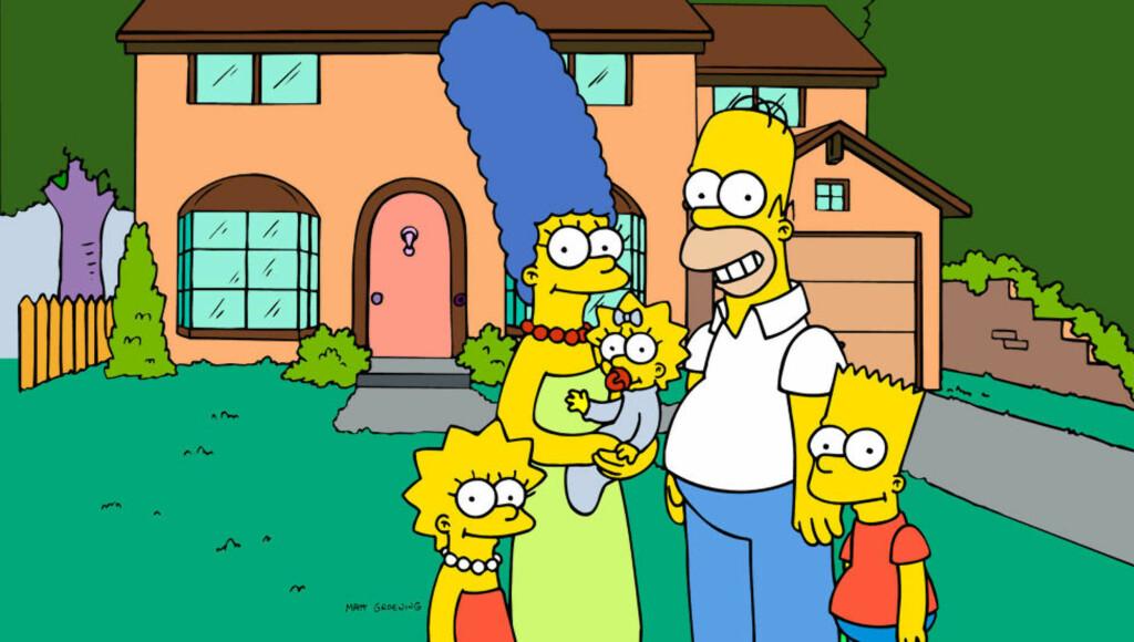 KJERNEFAMILIE: Serien om den dysfunksjonelle familien Simpson er den lengst sendte animerte TV-serien noensinne. Nå er det bekreftet at den 26. sesongen skal lages. Foto: Scanpix